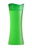 Green shower gel bottle Stock Photo
