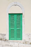 Green shutter. Stock Photos