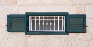 Green shutter. Royalty Free Stock Image