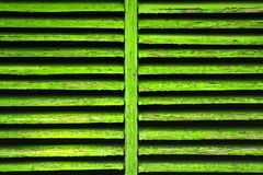 Green shutter Royalty Free Stock Photos