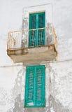 Green shutters. Stock Image