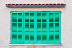 Green shutters Stock Photography