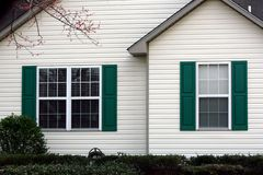 Green Shutters Royalty Free Stock Image