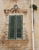 Green Shutters in Lecce Royalty Free Stock Images
