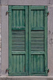 Green shutters Royalty Free Stock Images