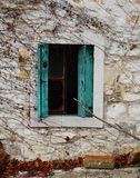 Green Shutters in Postach Royalty Free Stock Photos