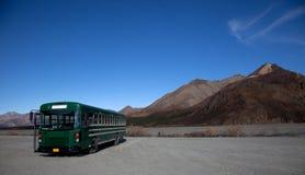 Green Shuttle Bus Stock Image