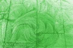 Green sidewalk chalk drawing background Royalty Free Stock Photography