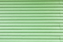 Green siding for background Stock Photo