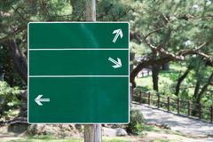 Green Sign with Arrows Royalty Free Stock Photos