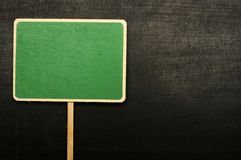Green Sign On The Chalkboard Royalty Free Stock Photo