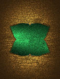 A green sign on cracked background. Template for design. copy space for ad brochure or announcement invitation, abstract backgroun Stock Photo