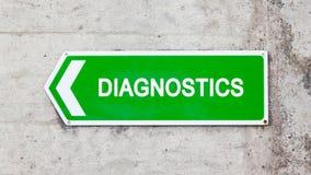 Green sign - Diagnostics Stock Photos