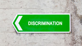 Green sign - Discrimination Royalty Free Stock Image