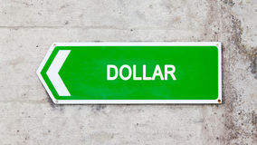 Green sign - Dollar Royalty Free Stock Photos