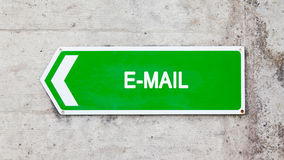 Green sign - E-mail Stock Photo