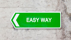 Green sign - Easy way Stock Photos