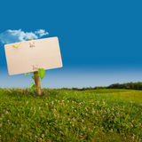 Green sign - eco friendly communication stock photography
