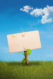 Green sign - eco friendly communication stock photo