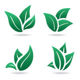 Green sign, eco leaves Royalty Free Stock Image