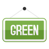 Green Sign Flat Icon Isolated on White Stock Image