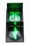 Green signal of a traffic light Stock Image