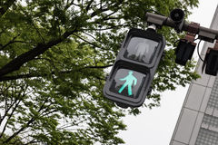 Green signal for walking Royalty Free Stock Image