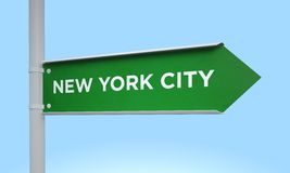 Green signpost. 3d rendering Green signpost Royalty Free Stock Photo