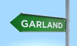 Green signpost garland. 3d rendering Green signpost Stock Image