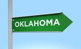 Green signpost oklahoma Stock Photo