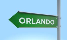 Green signpost orlando. 3d rendering Green signpost Stock Images
