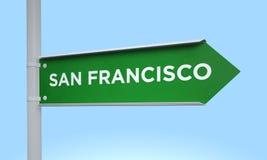 Green signpost san francisco Stock Photo