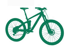 Green silhouette of the bicycle Royalty Free Stock Photography