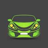 Green silhouette of a sports car Stock Images