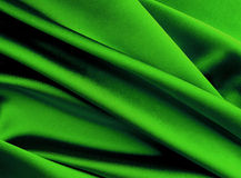 Green silk background. Stock Photography