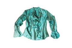 Green silk blouse Royalty Free Stock Photos