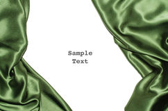 Green Silk Border left right Royalty Free Stock Image