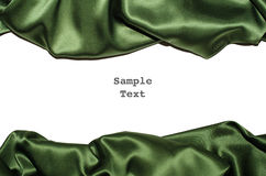 Green Silk Border top bottom Royalty Free Stock Image