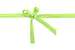 Green silk bow Stock Photography