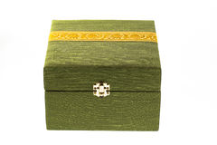 Green silk box Royalty Free Stock Images
