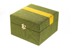 Green silk box Stock Photography