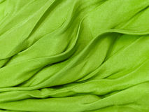 Green silk cloth background Royalty Free Stock Image