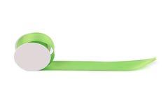 Green silk decorative ribbon. Royalty Free Stock Images
