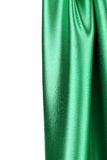 Green silk drape Royalty Free Stock Photography