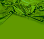 Green silk fabric background Stock Image
