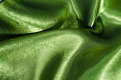 Green silk fabric Stock Image