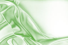 Green Silk Fabric Texture Stock Photo