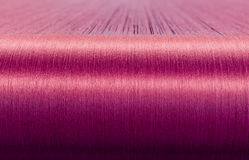 Green Silk On A Warping Loom Of A Textile Mill Royalty Free Stock Images