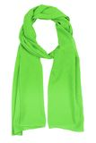 Green silk scarf Royalty Free Stock Images