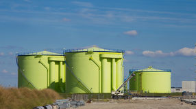 Green silos Royalty Free Stock Images